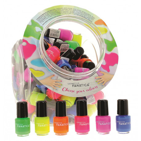 Mini Vernis à ongles NEON MATT, couleurs assortis, en display