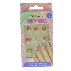 Faux Ongles autocollants 'RAINBOW STARS'