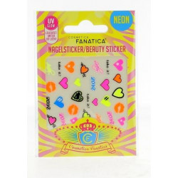 Stickers pour ongles 'NEON COEURS'