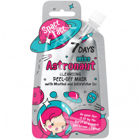 7 DAYS SPACE FACE Masque nettoyant Peel-Off MISS ASTRONAUT